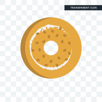 bagel vector icon isolated on transparent background, bagel logo design
