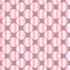 Simple seamless circle pattern background - pink vector graphic design