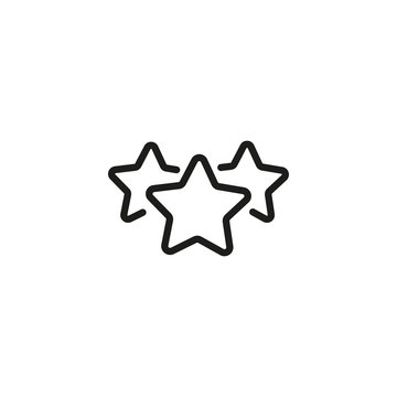 Three star rating line icon. Rating, customer review, quality evaluation. Feedback concept. Vector illustration can be used for topics like marketing, business, internet