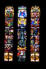 Wasselonne. Vitraux de l'église catholique Saint-Jean-Bosco, Alsace. Bas-Rhin. Grand Est