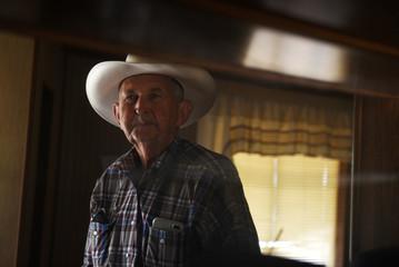 Bill Martin on his ranch near Carizzo Springs