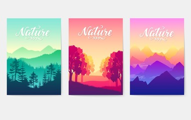 Sunrise over the beauty of nature. Mountain ranges in the solar rays of the setting sun. loveliness of the best parks on earth. Environment  natural illustration  Fototapete