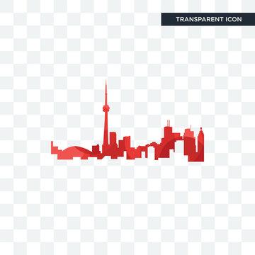 toronto skyline vector icon isolated on transparent background, toronto skyline logo design