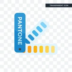 Pantone vector icon isolated on transparent background, Pantone logo design