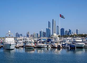 Skyline with Marina and City Center, Abu Dhabi, United Arab Emirates