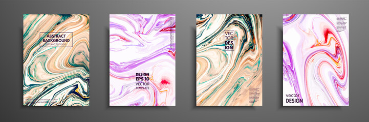 Fototapete - Swirls of marble or the ripples of agate. Liquid marble texture. Fluid art. Applicable for design covers, presentation, invitation, flyers, annual reports, posters and business cards. Modern artwork
