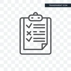 Notedpad List vector icon isolated on transparent background, Notedpad List logo design