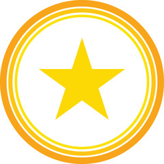 gold star favourite icon