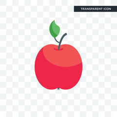 Apple vector icon isolated on transparent background, Apple logo design