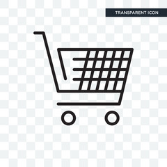 E commerce shopping cart tool vector icon isolated on transparent background, E commerce shopping cart tool logo design