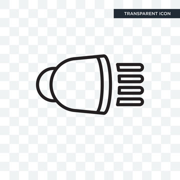 High Beam vector icon isolated on transparent background, High Beam logo design
