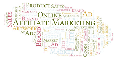 Word cloud with text Affiliate Marketing.