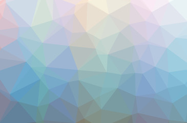 Illustration of blue abstract polygonal elegant multicolor background.