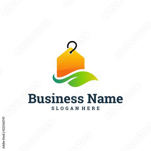 Coupon Logo Designs Template Nature Store Logo Organic Shop Stock
