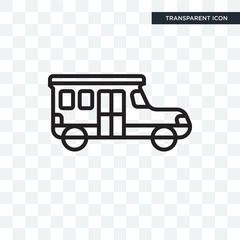 School bus vector icon isolated on transparent background, School bus logo design
