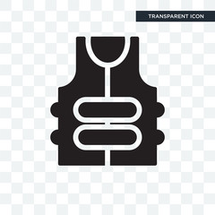 Bullet proof vest vector icon isolated on transparent background, Bullet proof vest logo design