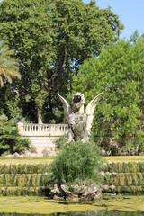 Fotobehang Fontaine Sculpture sur une fontaine