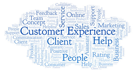 Customer Experience word cloud.