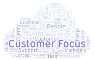 Customer Focus word cloud.