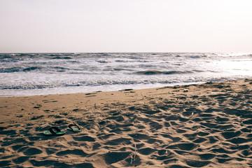 view of the sea, coastline, summer landscape