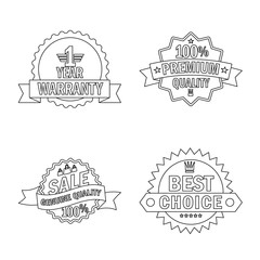 Vector design of emblem and badge logo. Collection of emblem and sticker stock vector illustration.