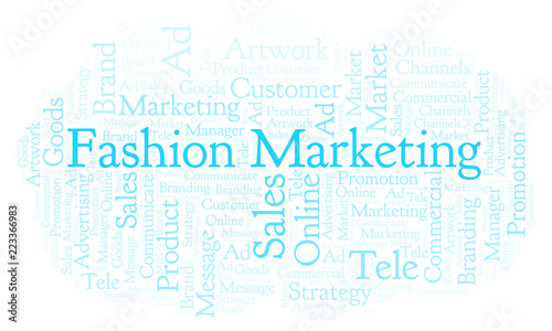 Word cloud with text Fashion Marketing