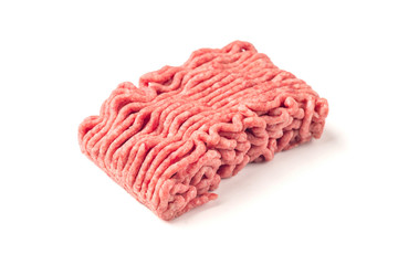 Pork mince isolated on a white background