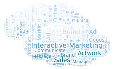 Word cloud with text Interactive Marketing.