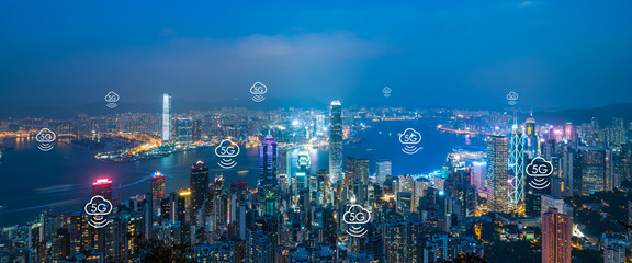 Hong Kong City Scenery and Communication Network