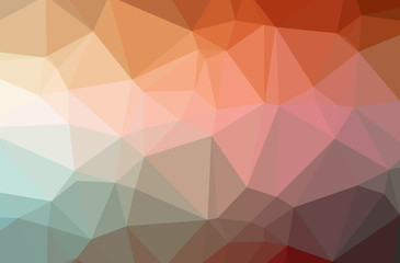Illustration of orange polygonal modern multicolor background.