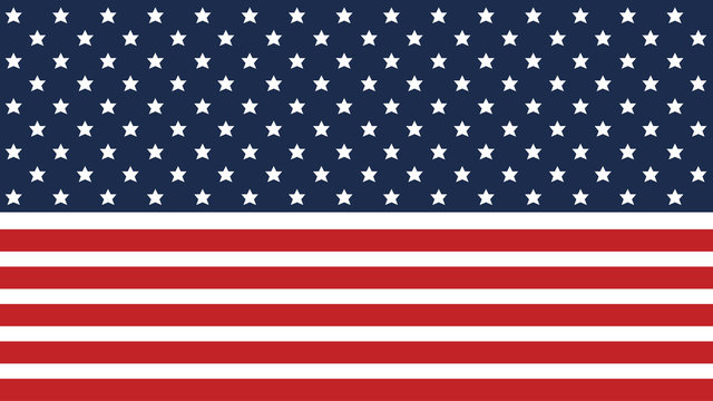 American flag background for Independence Day and other events. EPS 10. Vector illustration. Good for presentations.