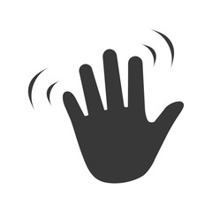 Hand wave waving hi or hello gesture flat vector icon for apps and websites
