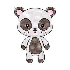 cute panda animal baby drawing