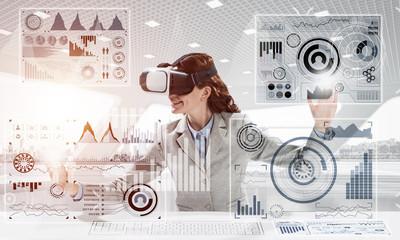 Conceptual image of virtual reality technology