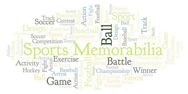 Sports Memorabilia word cloud.