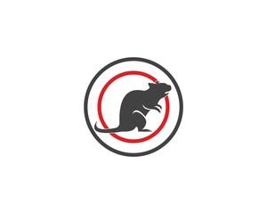 Rat silhouette logo design graphic