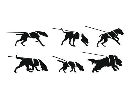 Mantrailing - Suchhunde - Silhouetten