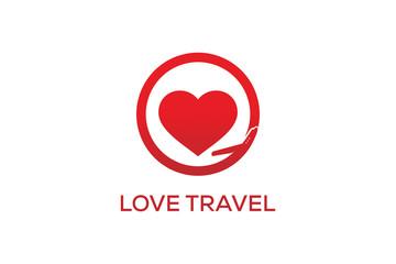 LOVE TRAVEL LOGO DESIGN