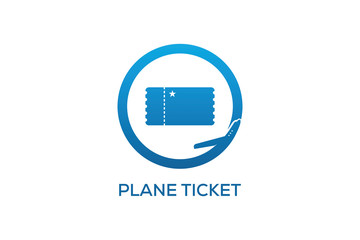 PLANE TICKET LOGO DESIGN