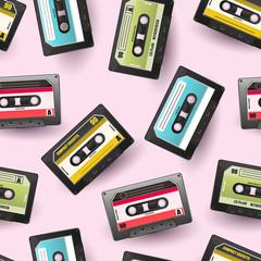 90s cassette seamles background