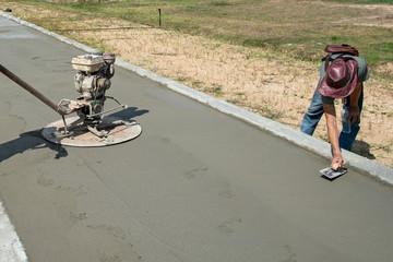 Cement Trucks working