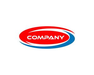 Wave oval logo design template