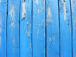 blue weathered planks wooden surface with shabby effect