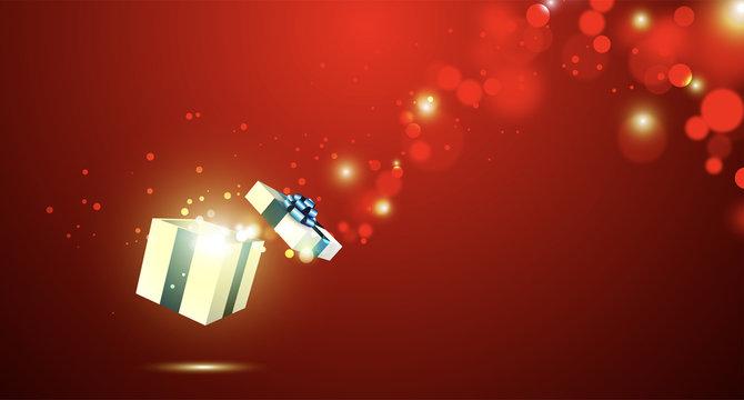 regalo, esplosione, doni, pacco, natale