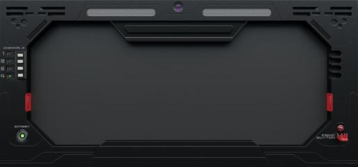 3D render SciFi Tablet /Monitor/Background