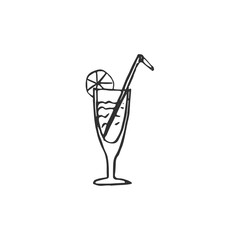 cocktail glass isolated on white background, vector illustration