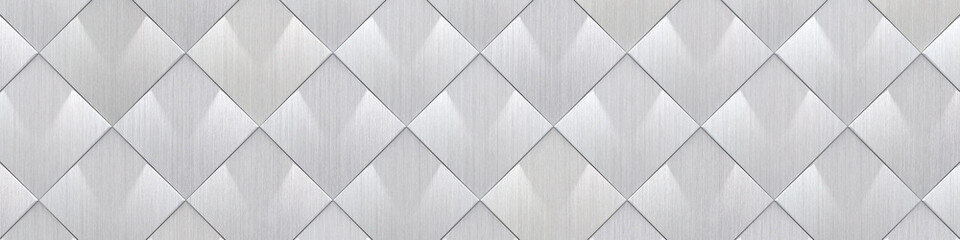 Wide Brushed Metal Tiled Background (Site head) (3d illustration)