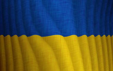 Illustration of a flying Ukrainian flag