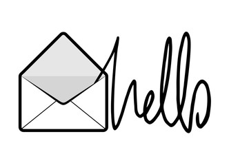 envelope with hello message