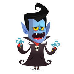 Cartoon vampire. Vector illustration with simple gradients.